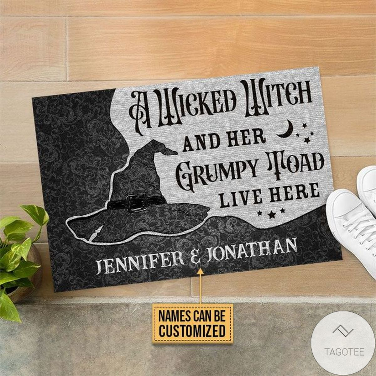 Absolutely Love Personalized Wicked Witch Grumpy Toad Live Here Doormat