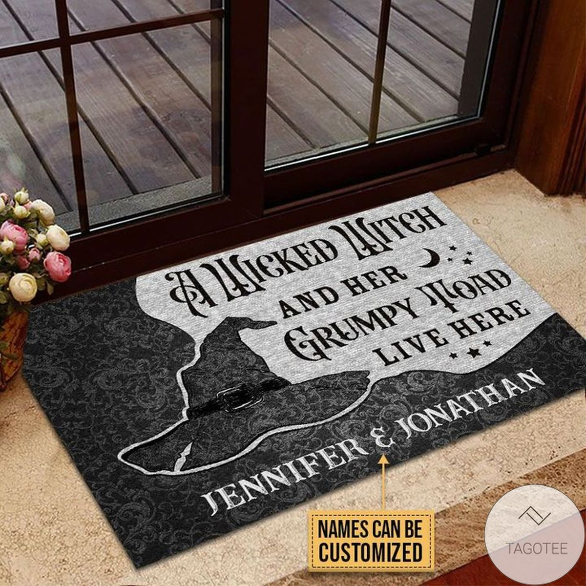 Present Personalized Wicked Witch Grumpy Toad Live Here Doormat