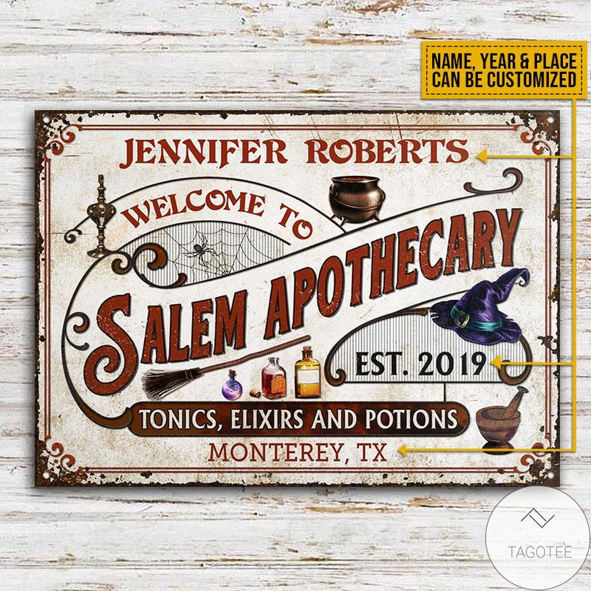 Top Selling Personalized Witch Salem Apothecary Classic Metal Signs