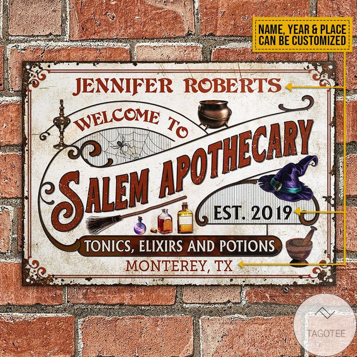 Great Quality Personalized Witch Salem Apothecary Classic Metal Signs