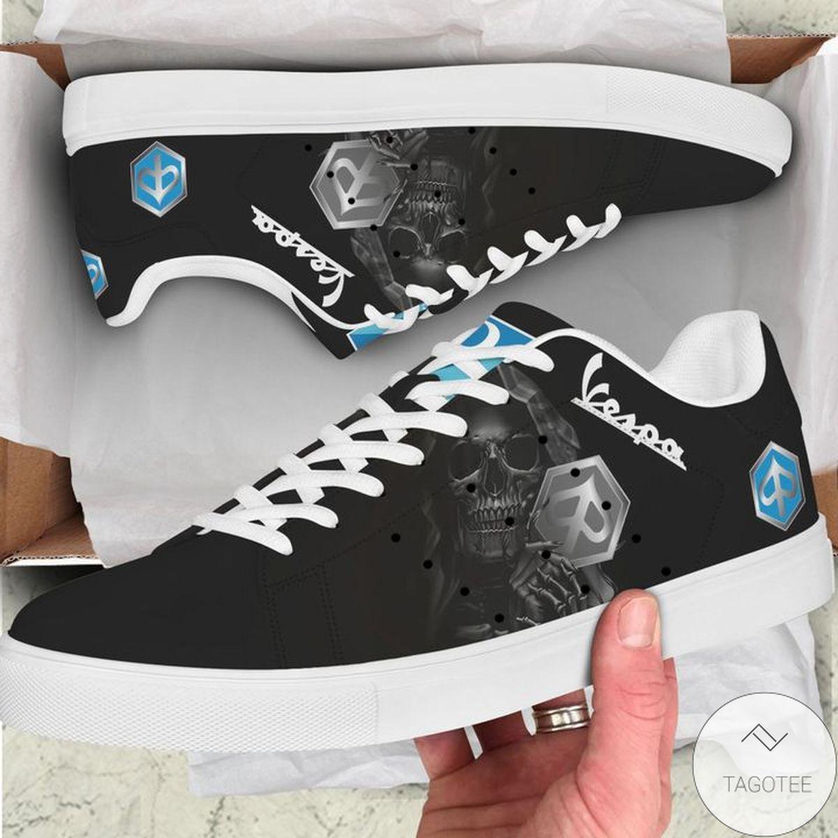 Only For Fan Piaggio Vespa  Black Skull Green Stan Smith Shoes