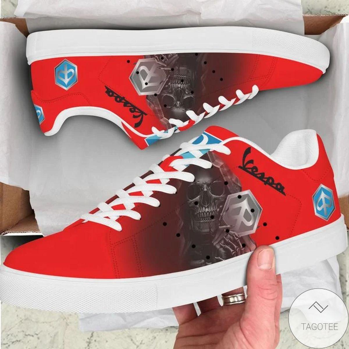 Unisex Piaggio Vespa Skull Stan Smith Shoes