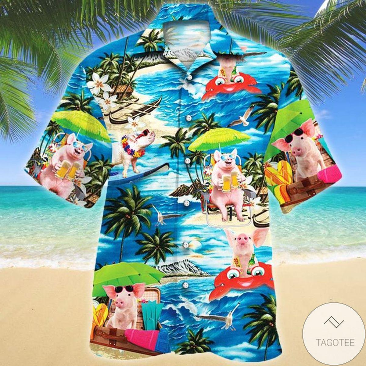 Pig Beach Vacation Vibe Hawaiian Shirt