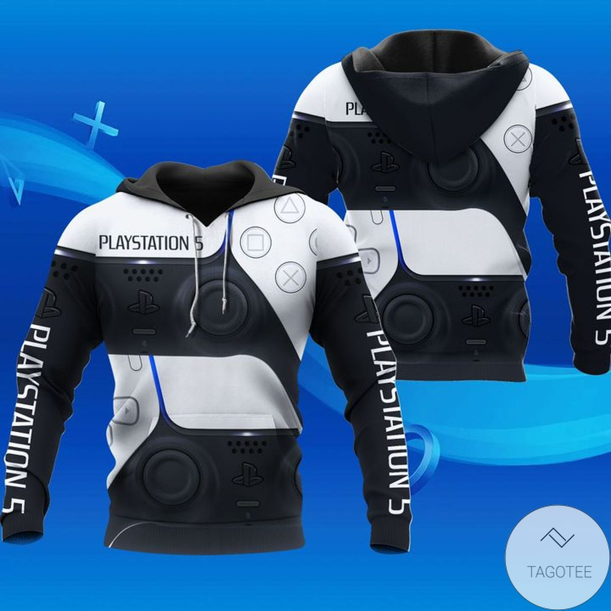 Rating Playstation 5 Black And White Hoodie
