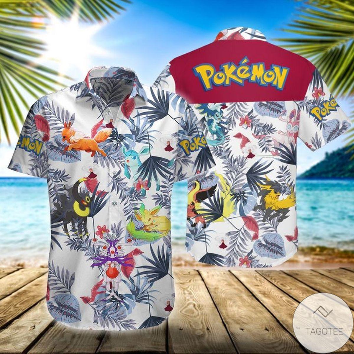 All Over Print Pokemon Eevee Hawaiian Shirt