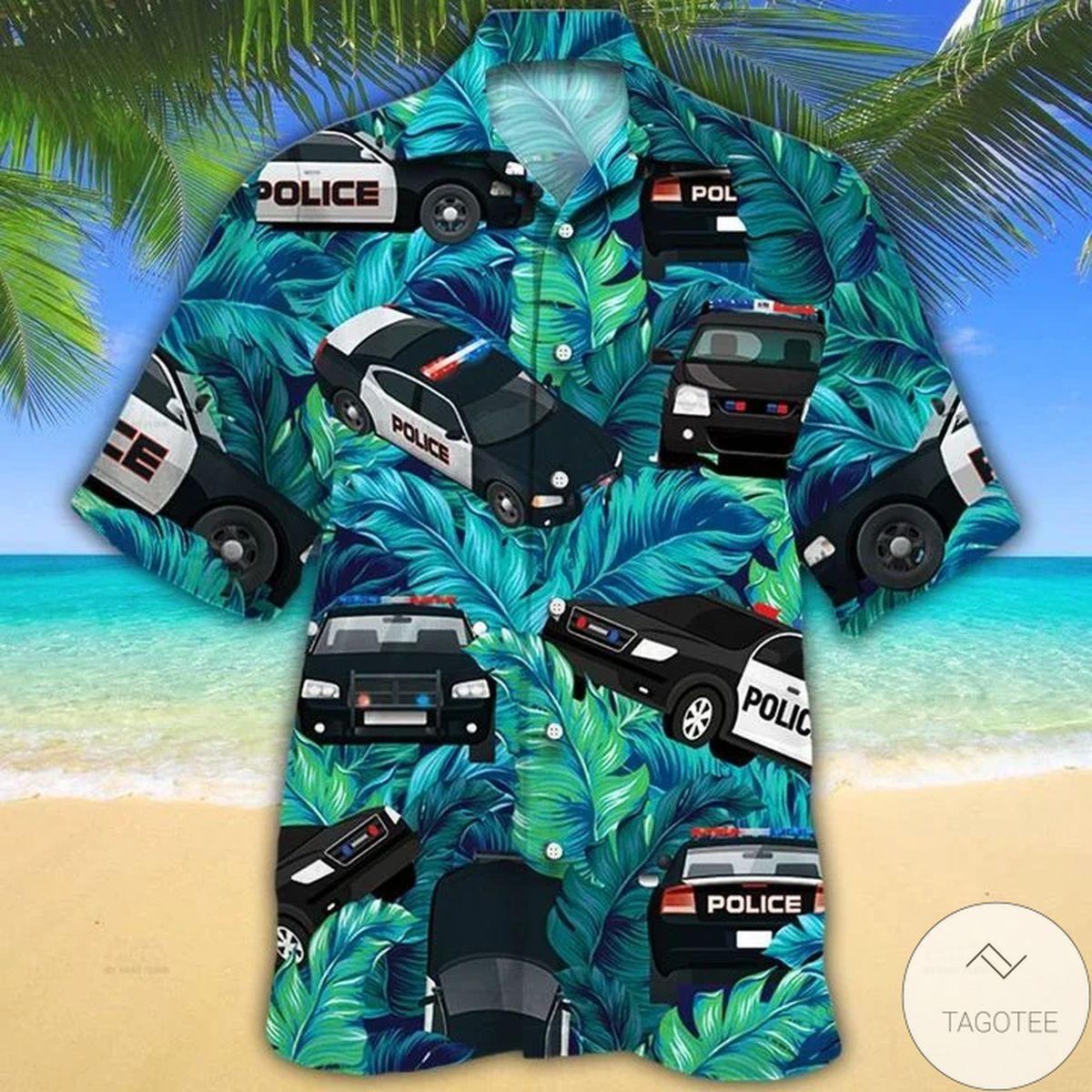 Best Shop Police Cars Hawaiian Shirt