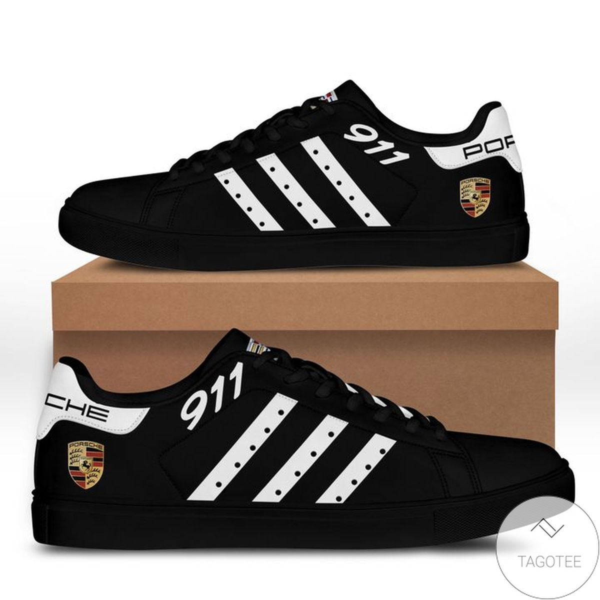 Mother's Day Gift Porsche All Black Stan Smith Shoes