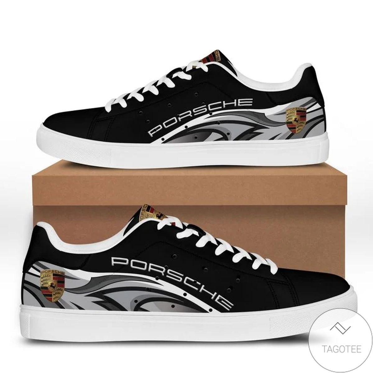 Discount Porsche Black Stan Smith Shoes