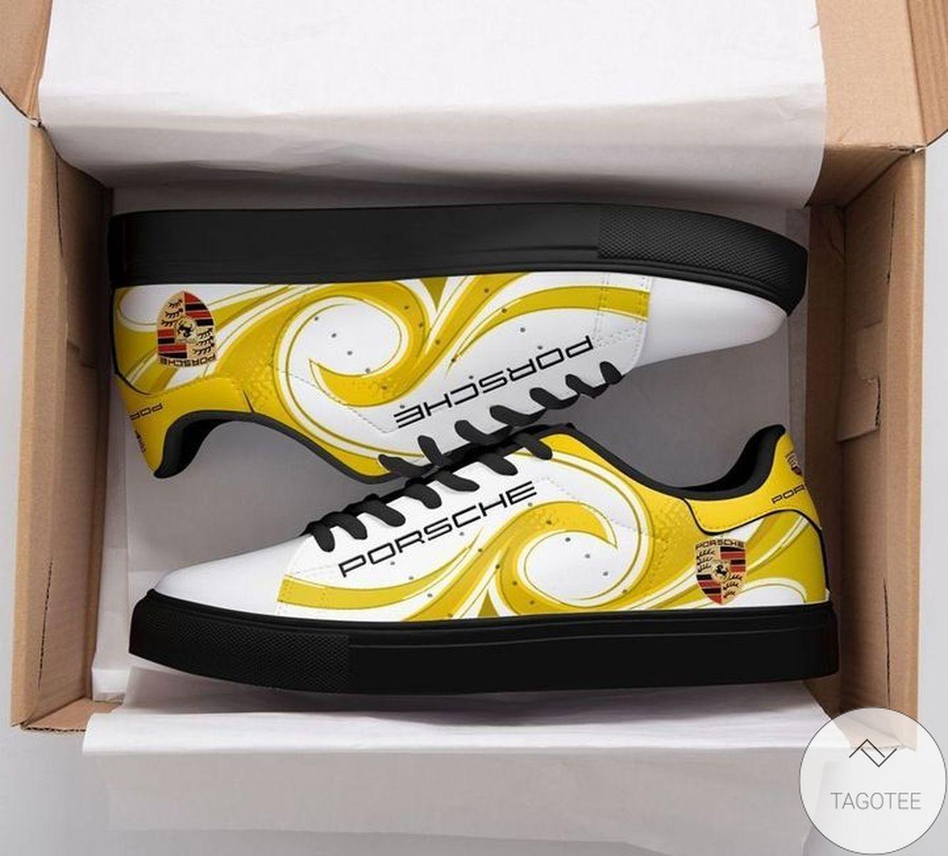 Perfect Porsche Yellow Stan Smith Shoes