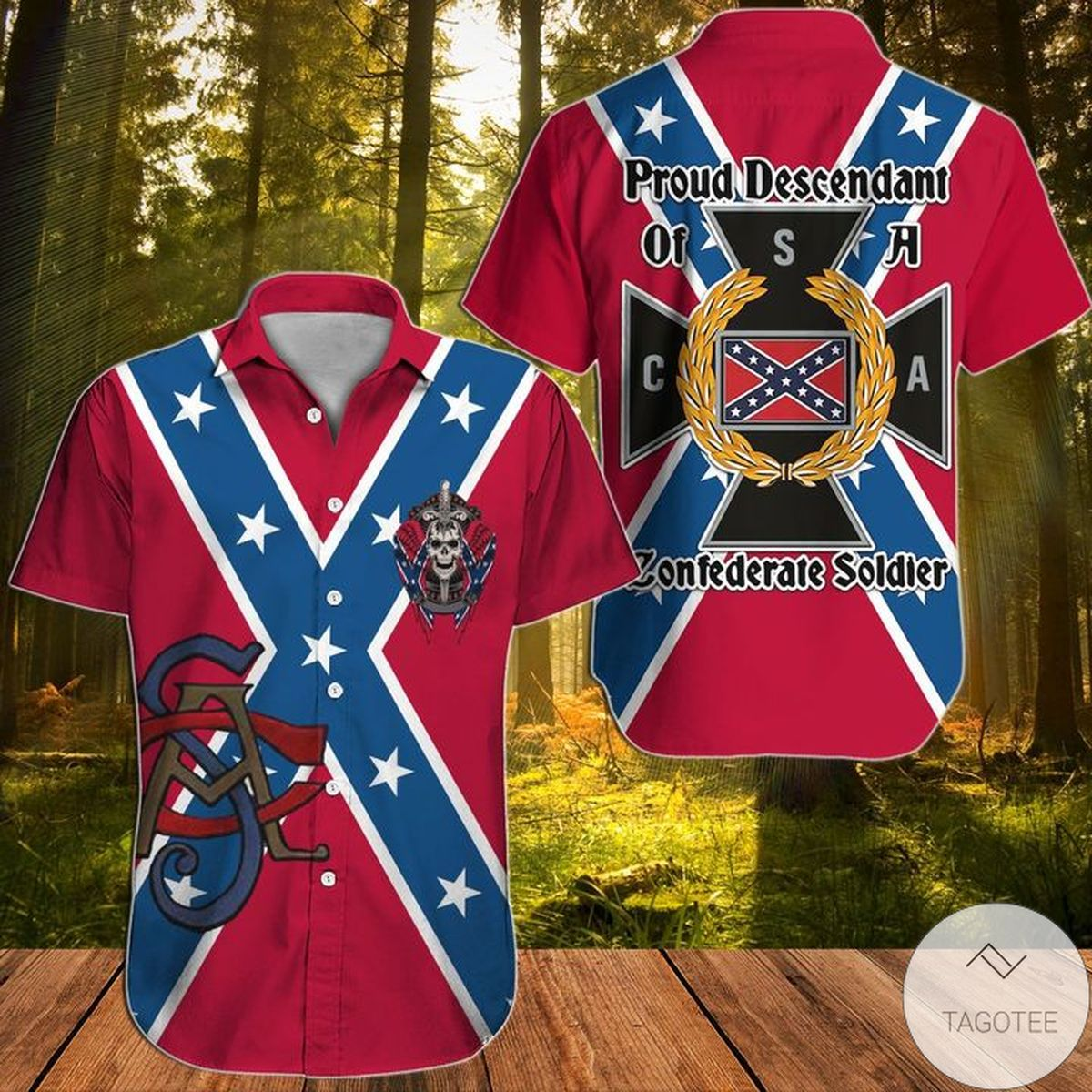 Proud Descendant Of A Confederate Soldier Southern Hawaiian Shirt