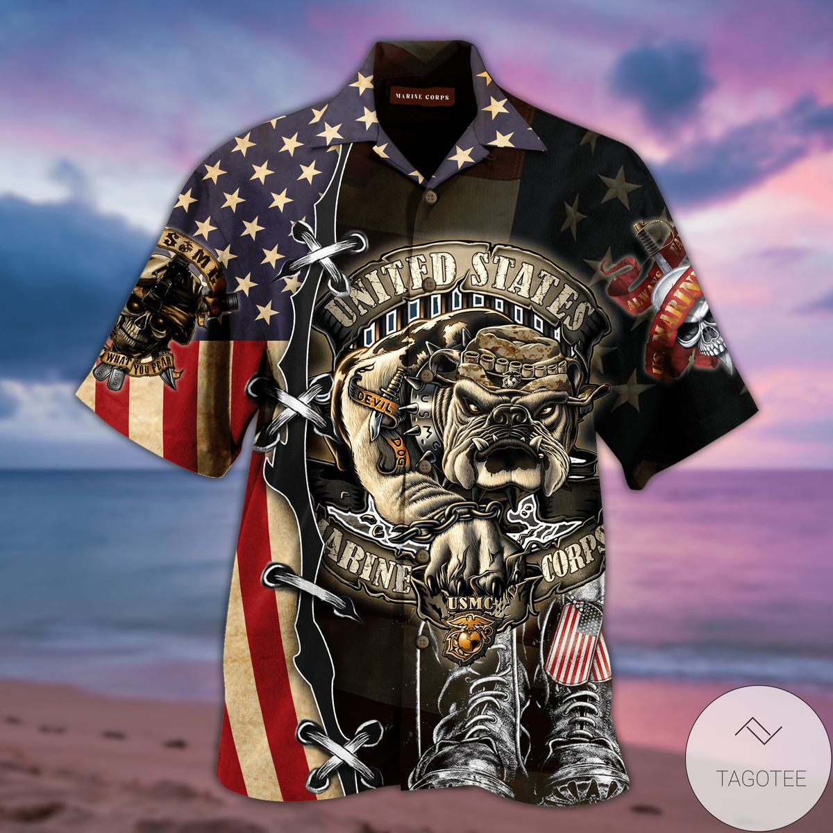 Proud United States Marine Corps Hawaiian Shirt