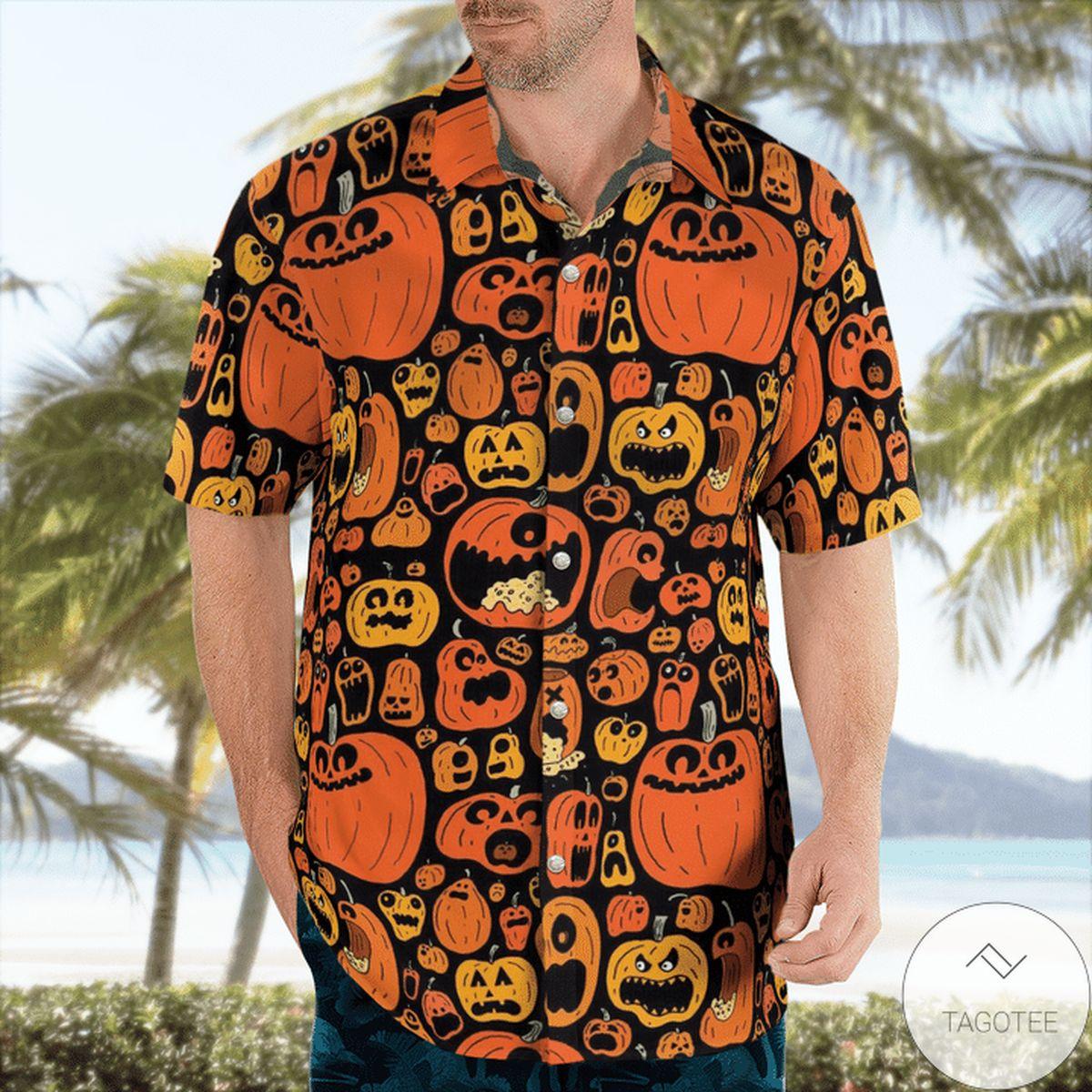 Pumpkins Pattern Halloween Hawaiian Shirt