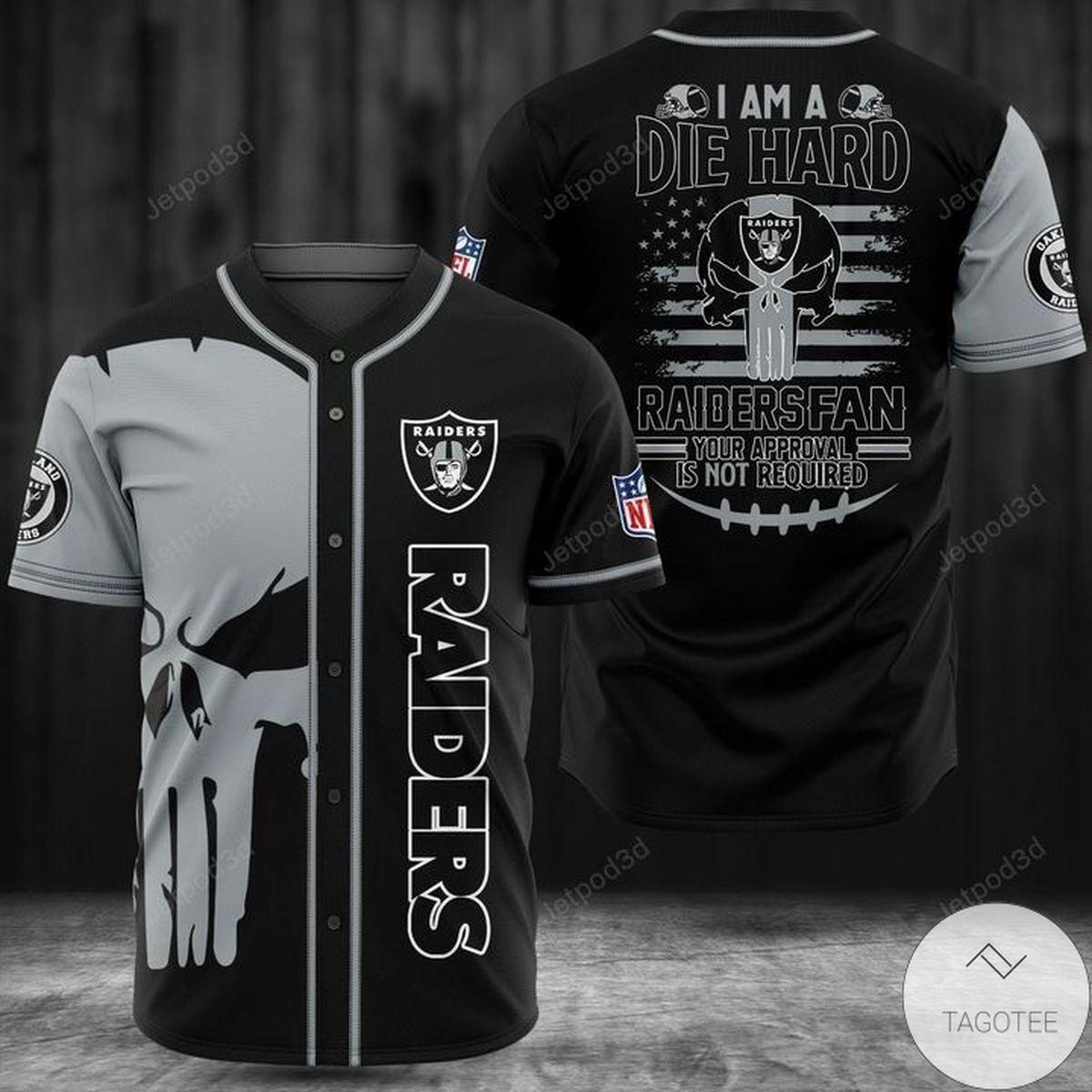 Raiders I'm A Die Hard Raiders Fan Baseball Jersey