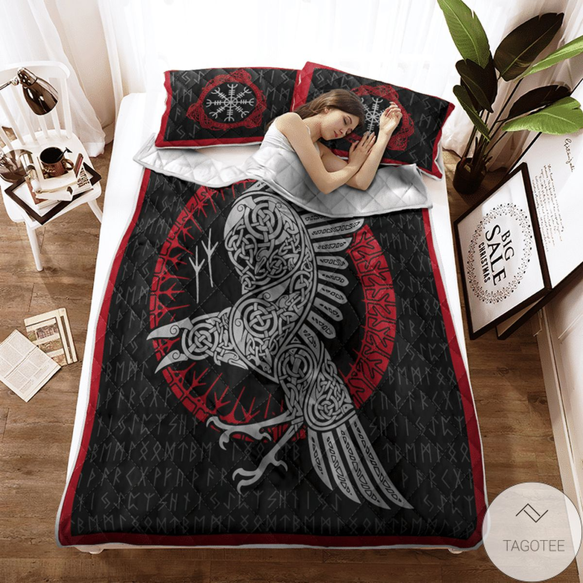 Where To Buy Raven And Rune - Viking Quilt Bedding Set