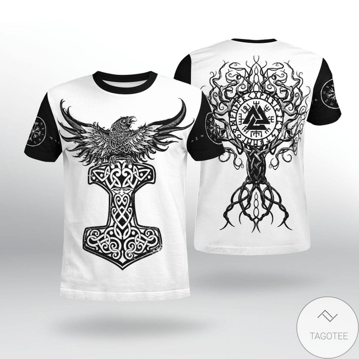 Raven Hammer - Yggdrasil - Tree Of Life - Viking T-shirt