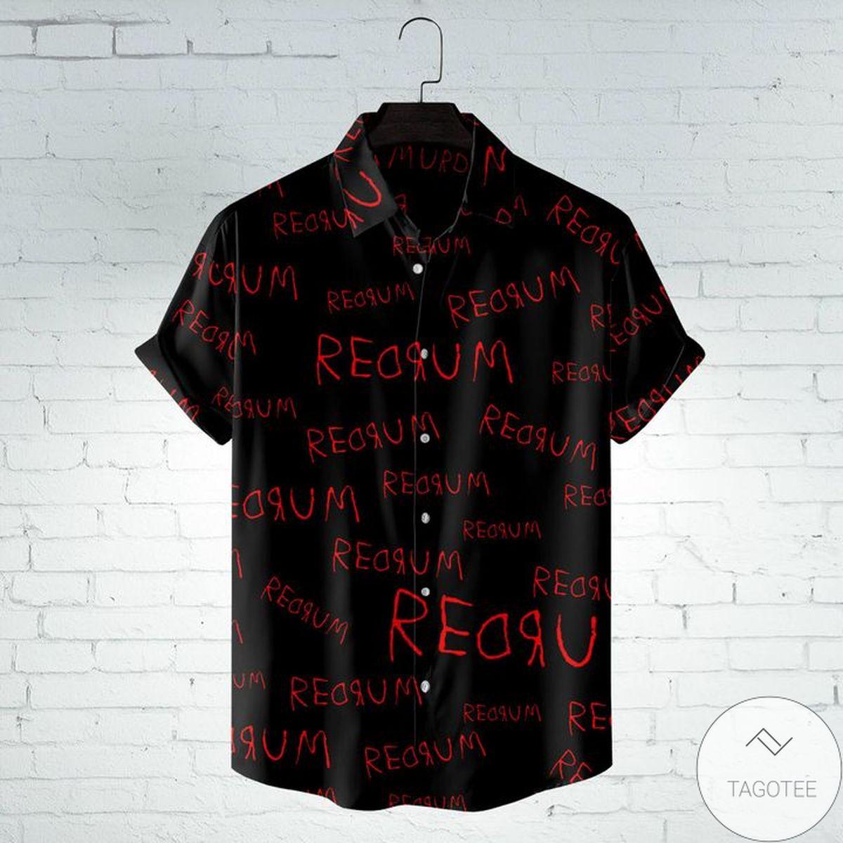 Excellent Redrum Pattern Hawaiian Shirt