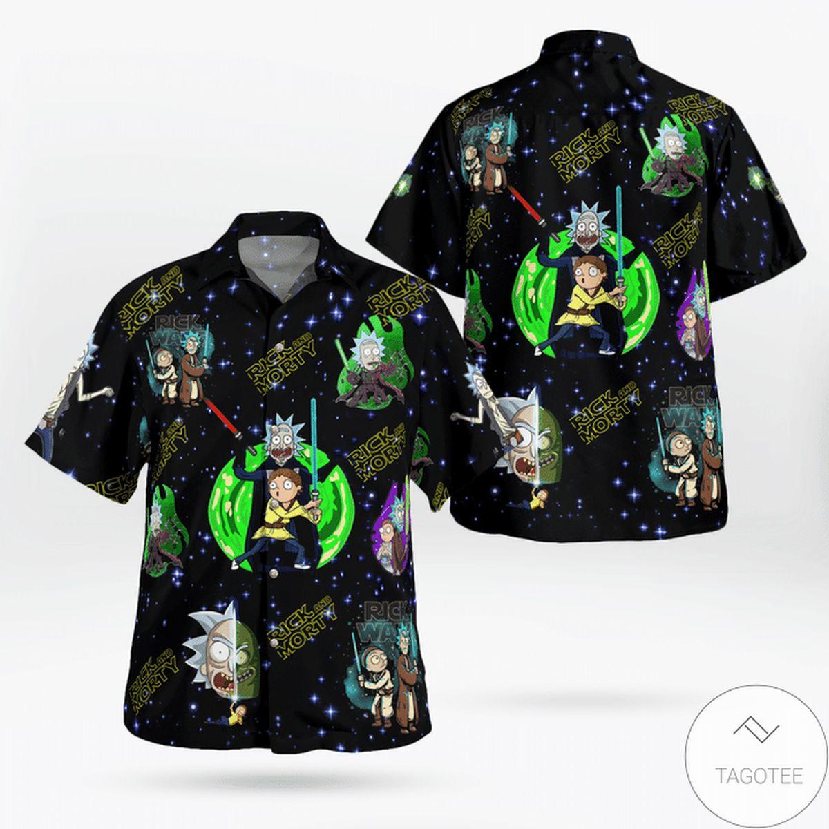 Beautiful Rick And Morty Hawaiian Shirt