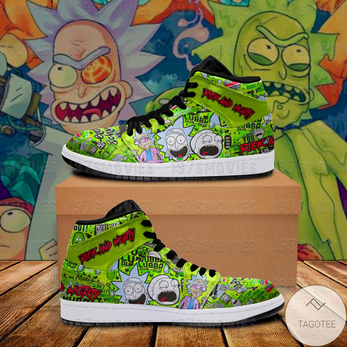 Official Rick and Morty Sneaker Air Jordan High Top Shoes