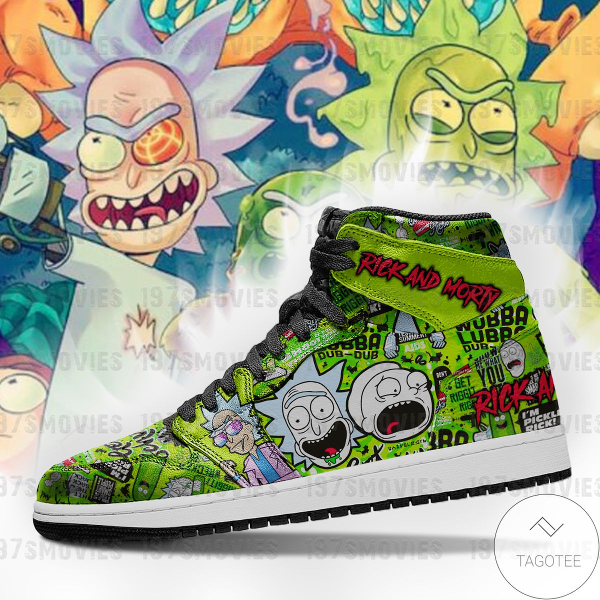 Top Rated Rick and Morty Sneaker Air Jordan High Top Shoes