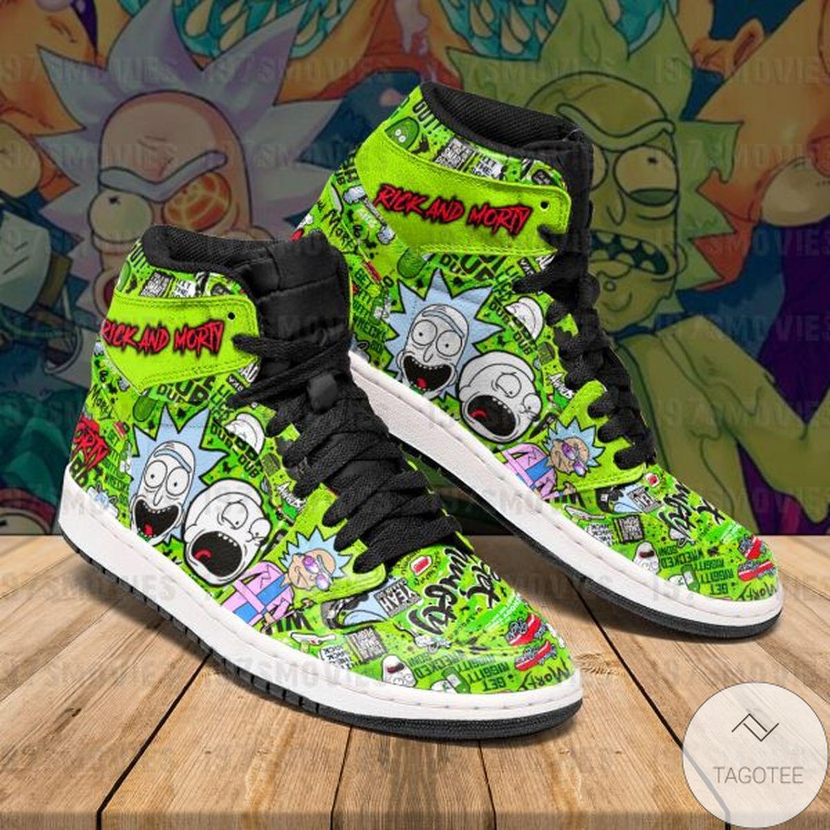 Rick and Morty Sneaker Air Jordan High Top Shoes
