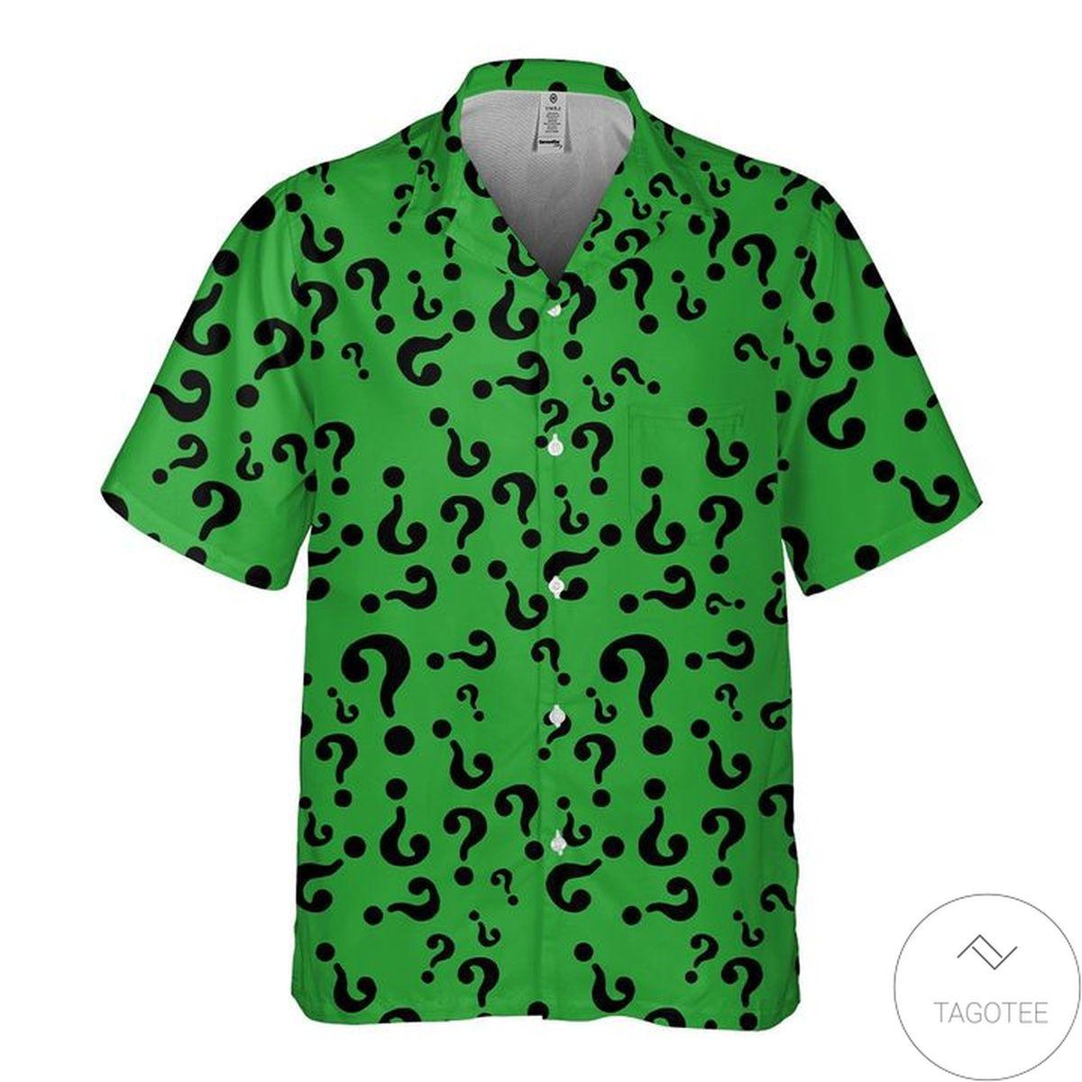Free Riddler Hawaiian Shirt