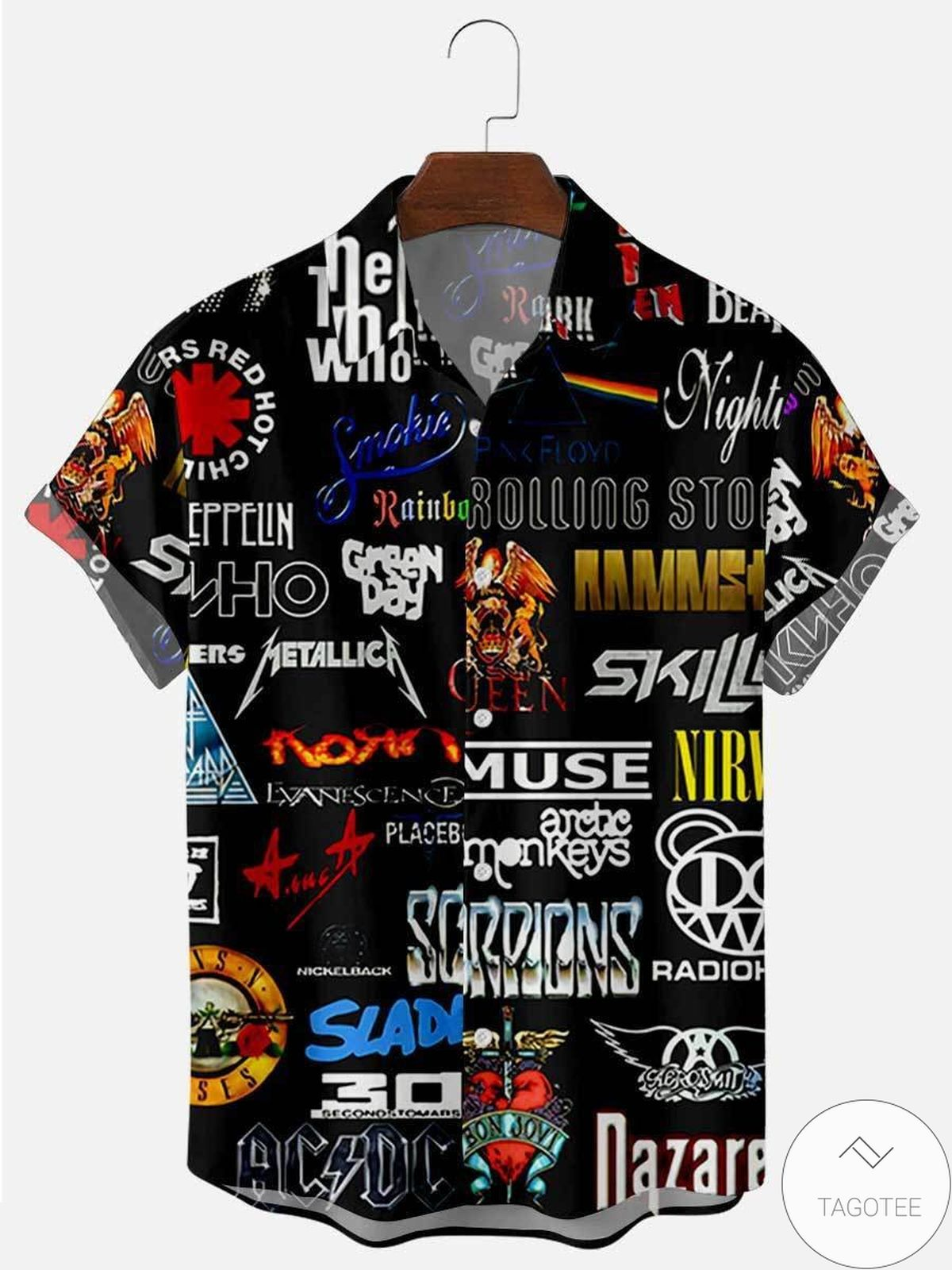 Wonderful Rock Bands 90 Hawaiian Shirt