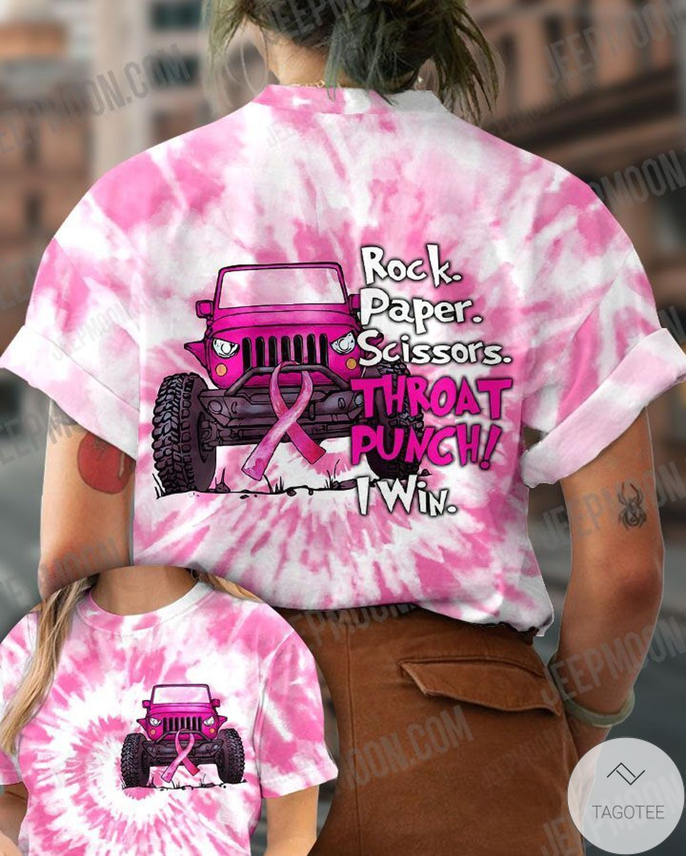 Rating Rock Paper Scissors Throat Punch I Win Jeep T-Shirt