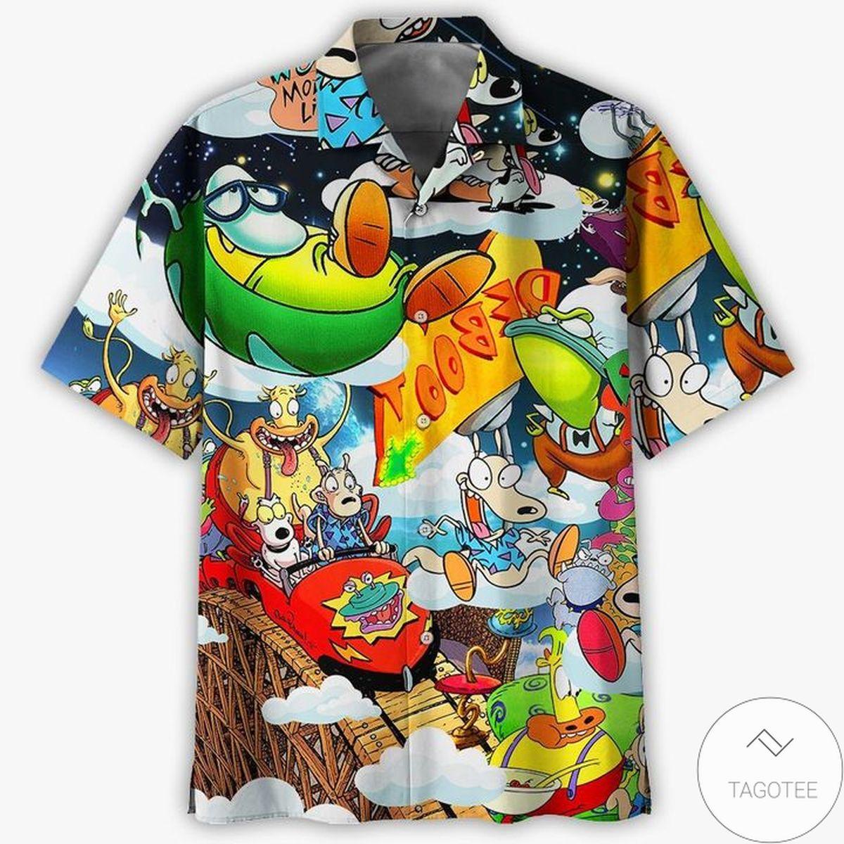Top Selling Rocko's Modern Life, Rocko And Friend Hawaiian Shirt