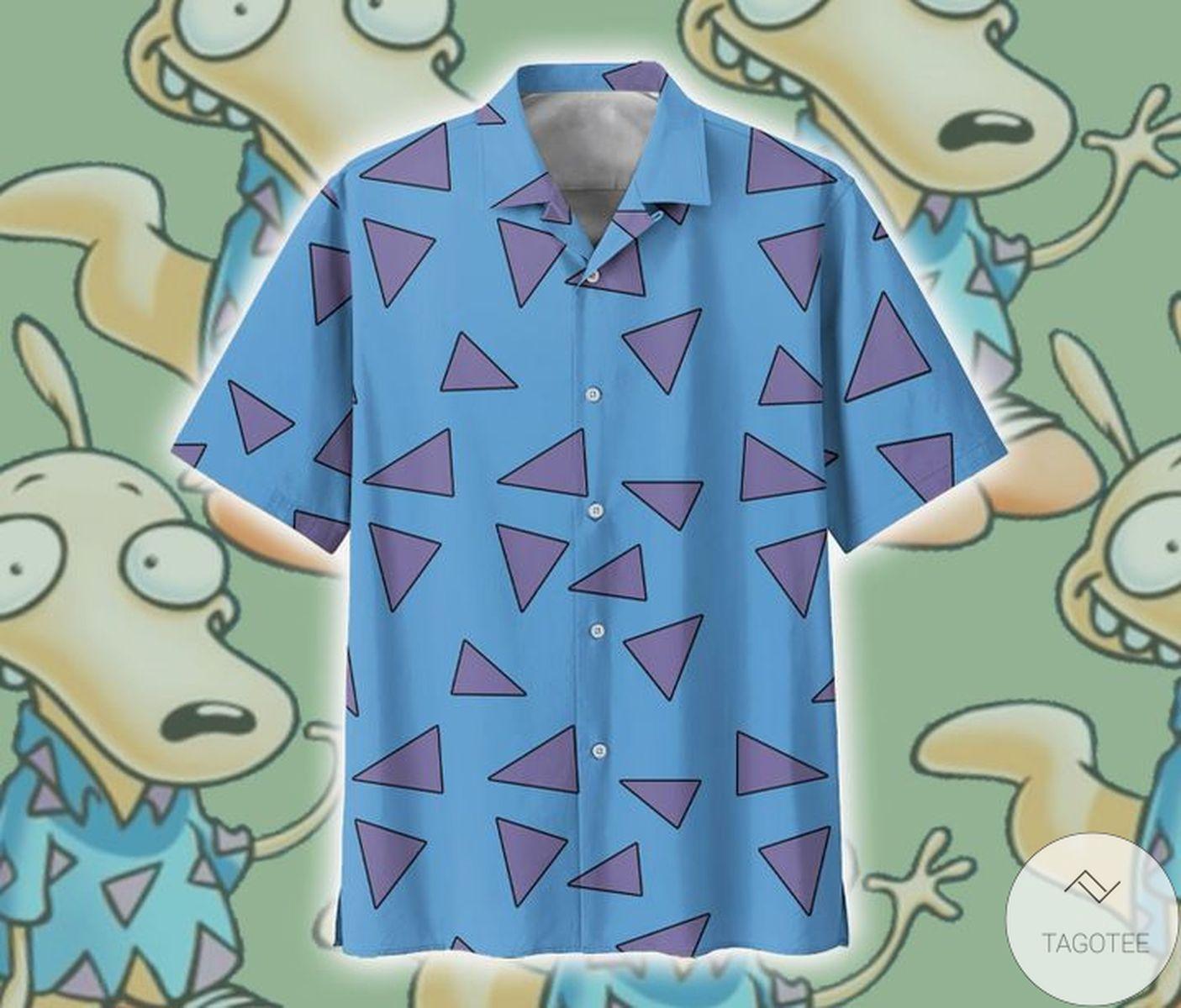 Esty Rocko's Modern Life Triangle Pattern Hawaiian Shirt