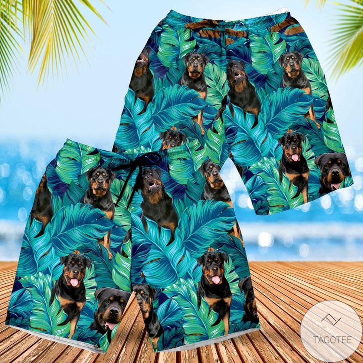 Rottweiler Dog Lovers Gift Hawaiian Shorts