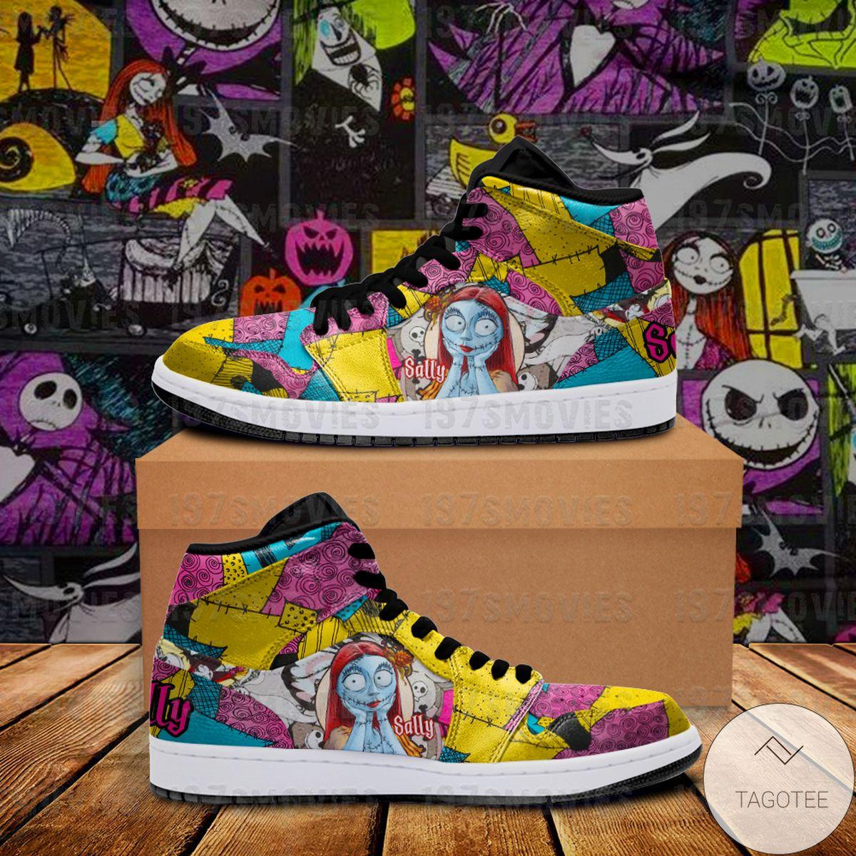Best Shop Sally Jack Skellington The Nightmare Before Christmas JD Sneaker Air Jordan High Top Shoes