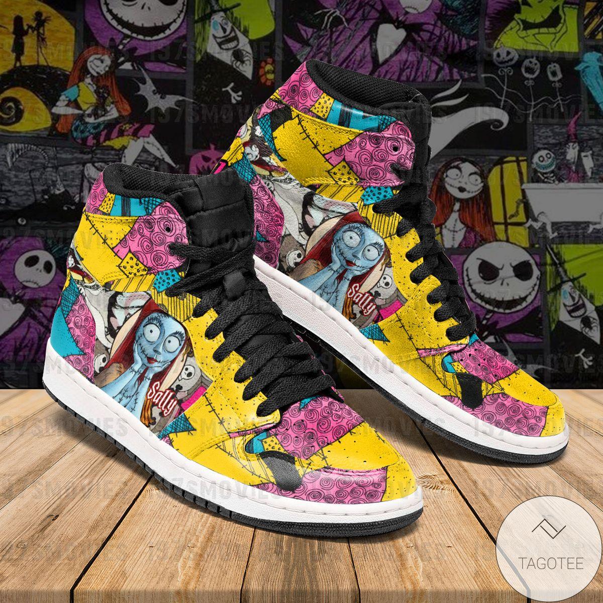 Handmade Sally Jack Skellington The Nightmare Before Christmas JD Sneaker Air Jordan High Top Shoes