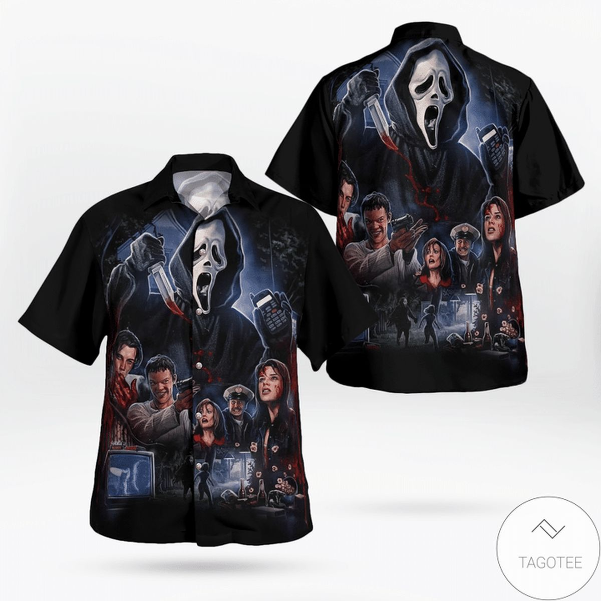 Scream Ghostface Halloween Hawaiian Shirt