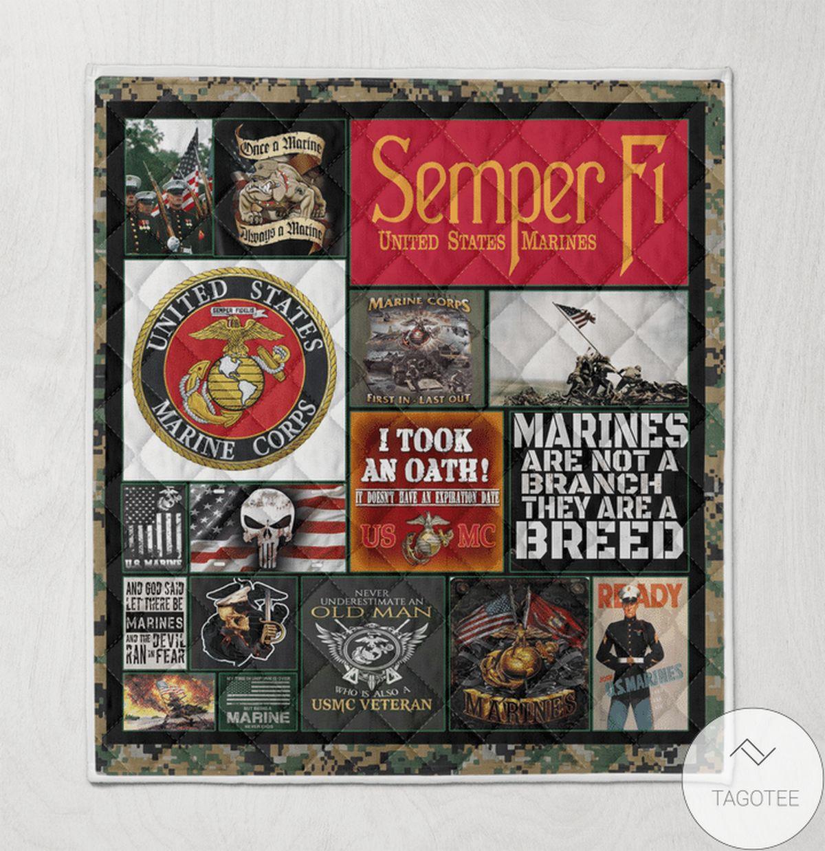 US Shop Semper Fi Marine Quilt