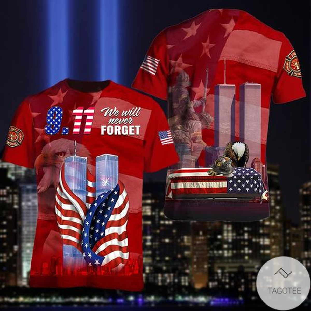 September 11 Attacks Remember 911 We Will Never Forget 3d t Shirt