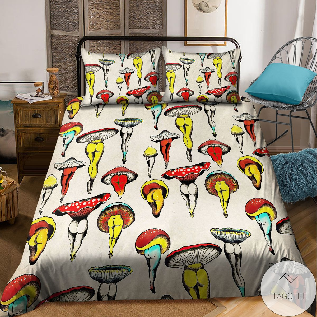 Unique Sexy Hippie Mushroom Bedding Set