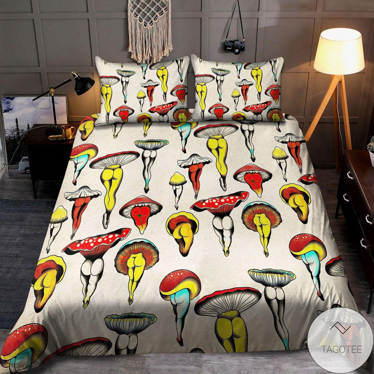 Vibrant Sexy Hippie Mushroom Bedding Set