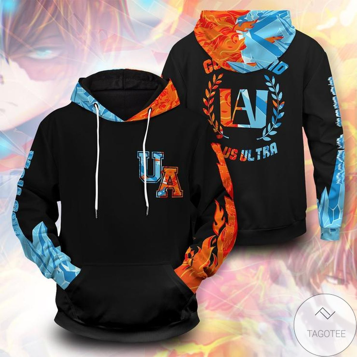 Gorgeous Shoto Fire Ice Unisex Pullover Hoodie
