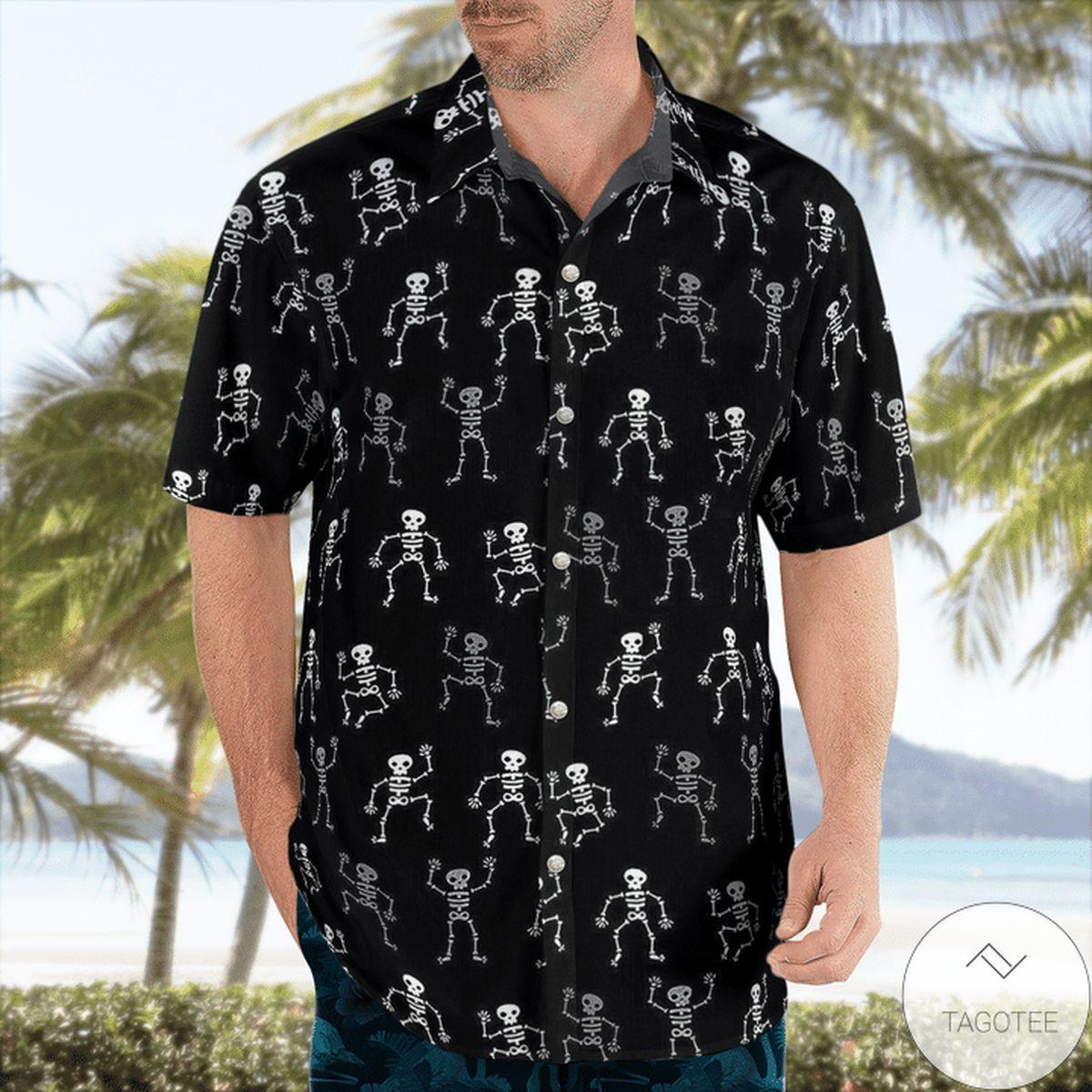 Skeleton Dancing Hawaiian Shirt