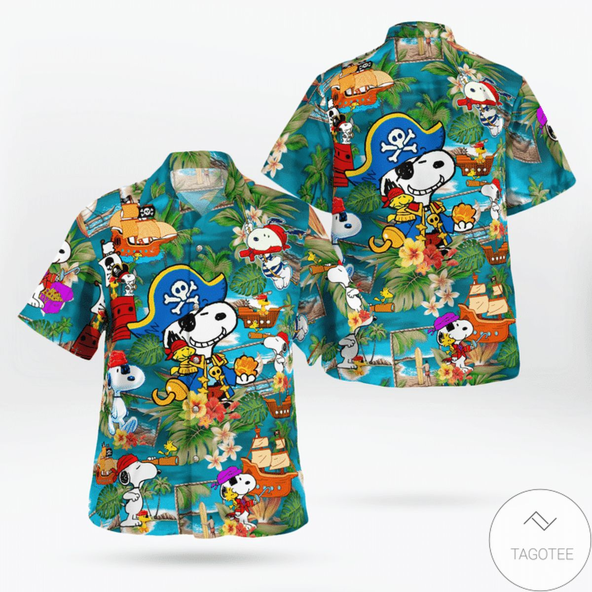 Awesome Snoopy Pirate Hawaiian Shirt