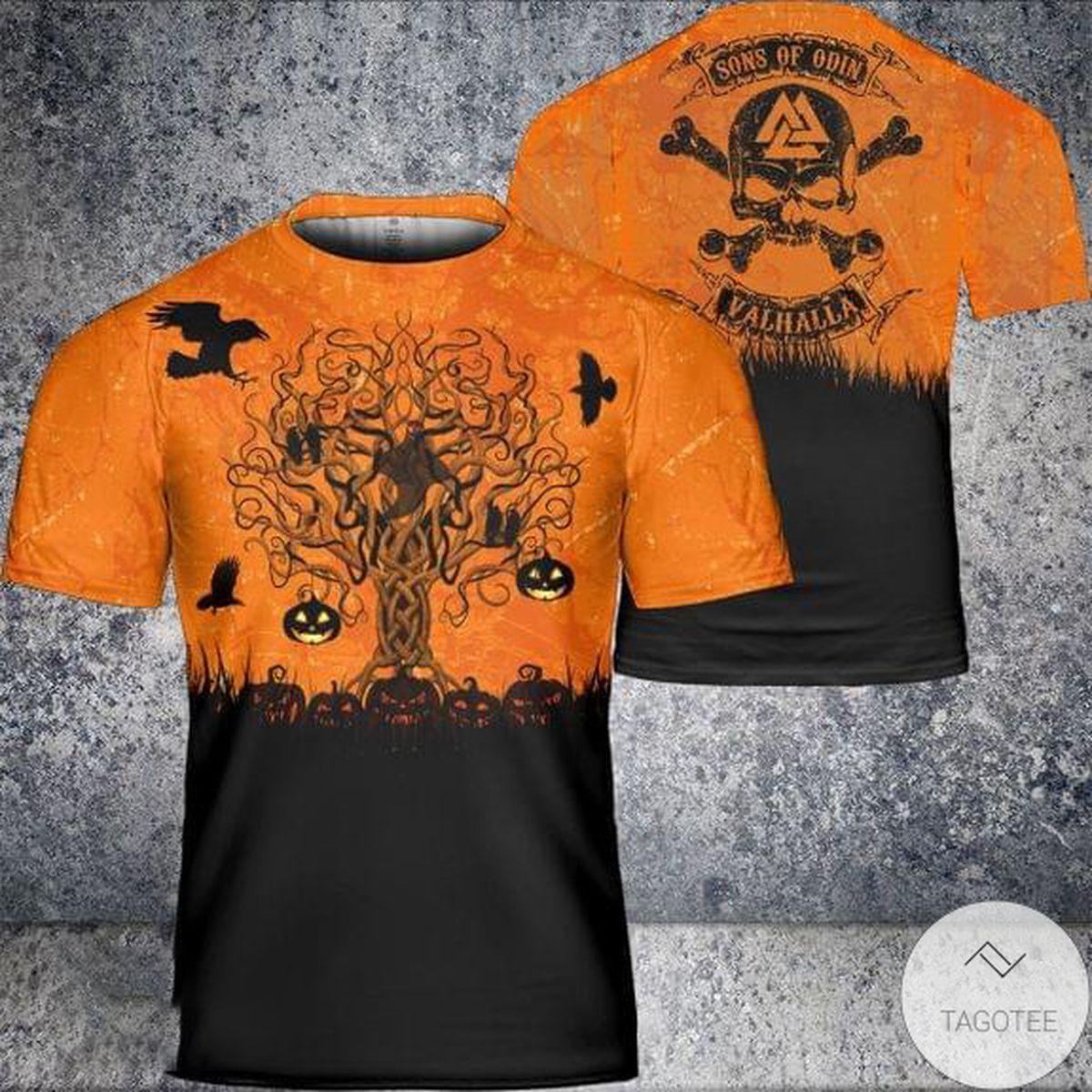 Son Of Odin Valhalla Skull Halloween T-Shirt