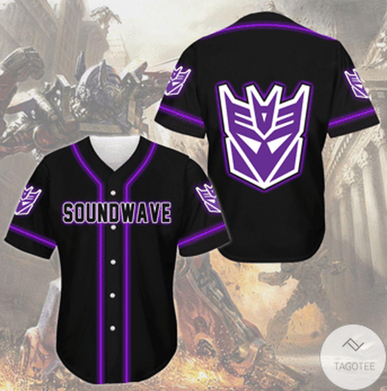 Soundwave Transformer Jersey Baseball Shirt