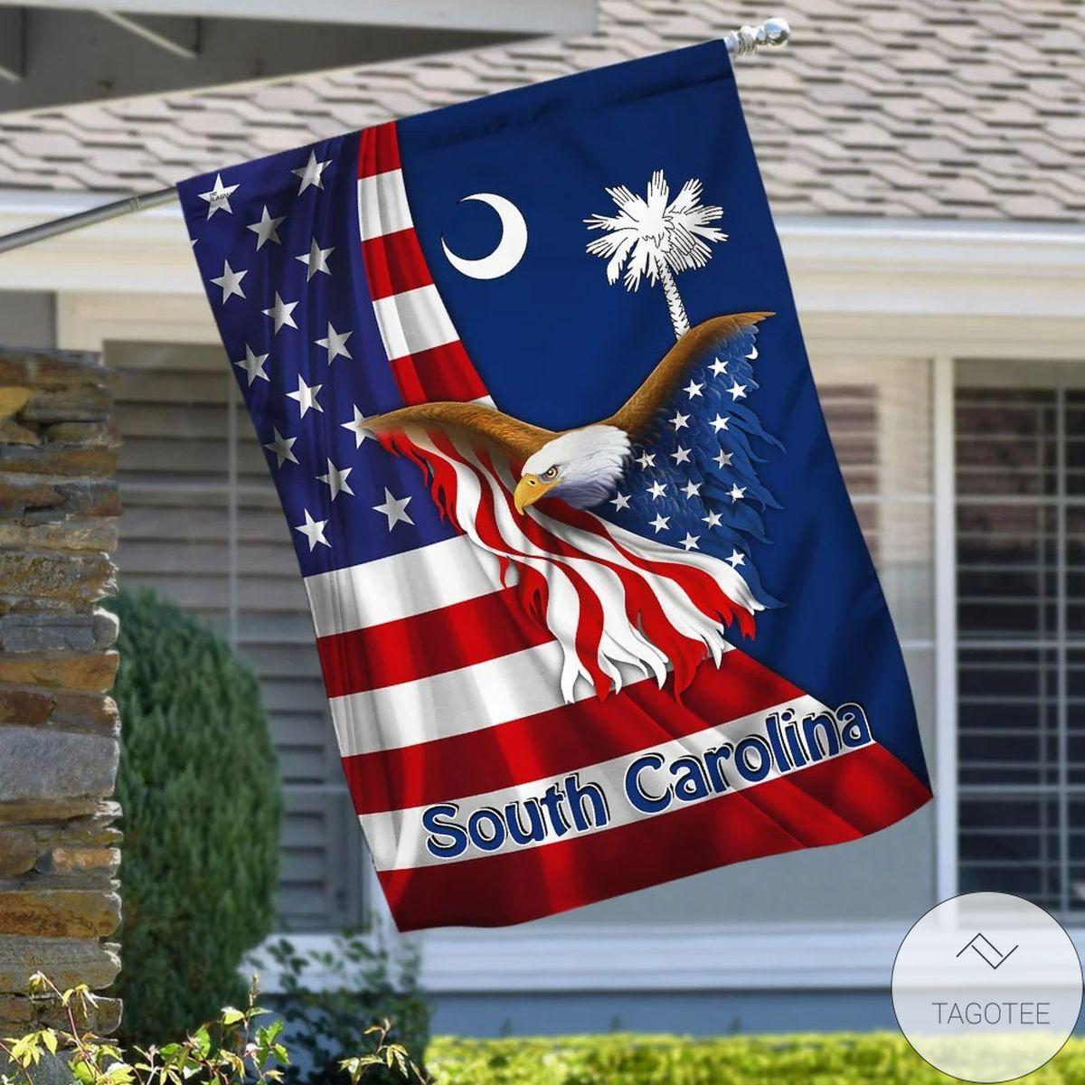 South Carolina Eagle Flag