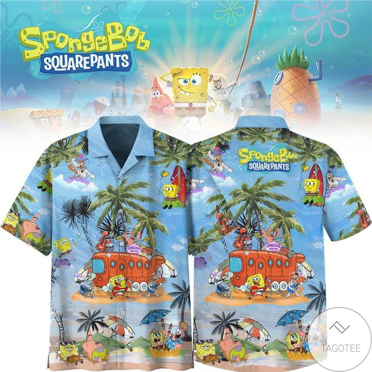 Very Good Quality Spongebob Squarepants Cartoon Hawaiian Shirt