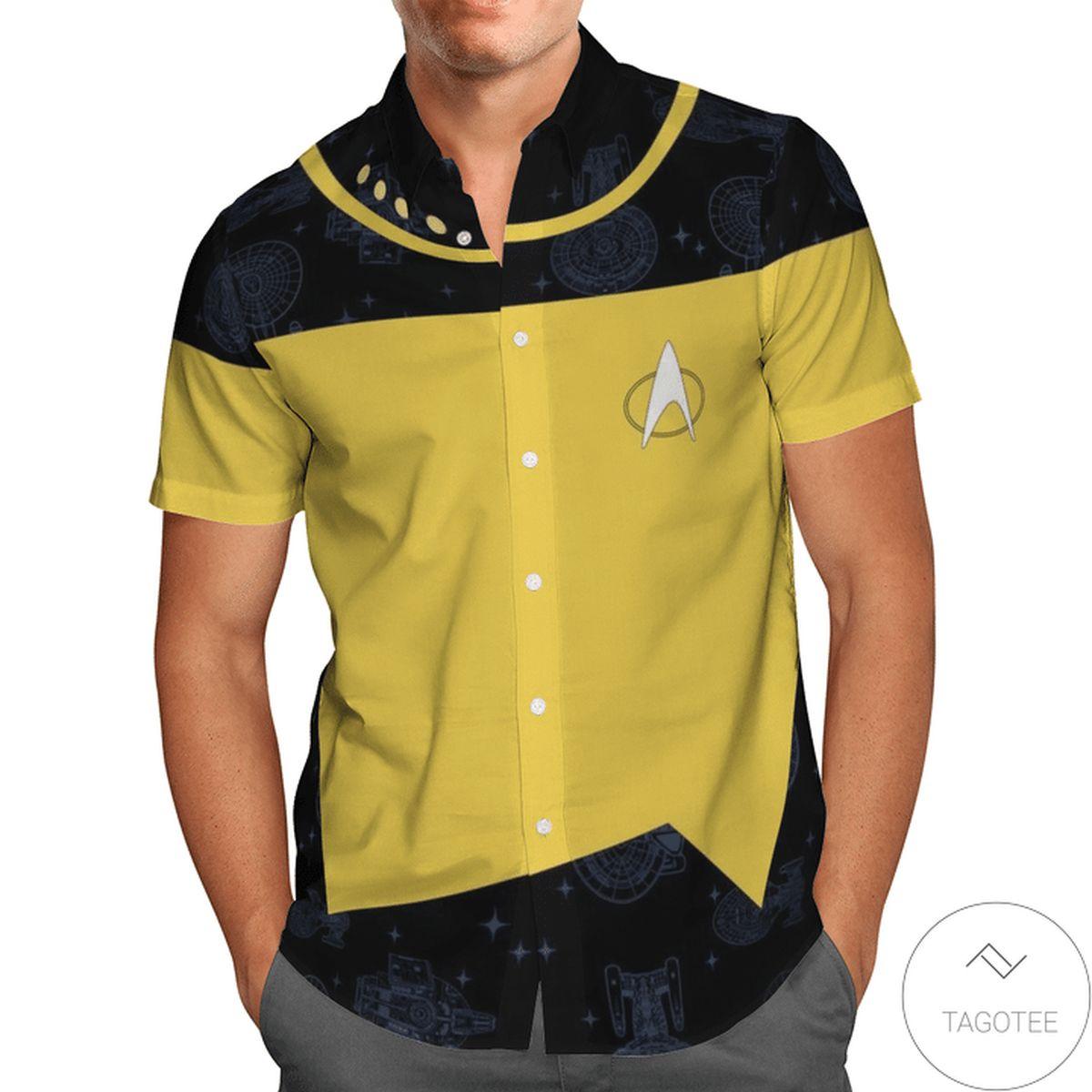 Amazing St Hawaiian Shirt Yellow And Black Hawaiian Shirt