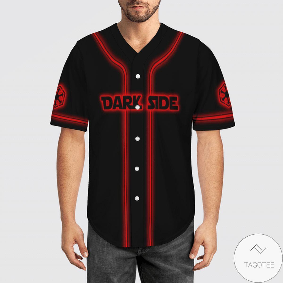 Funny Tee Star Wars Dark Side Baseball Jersey