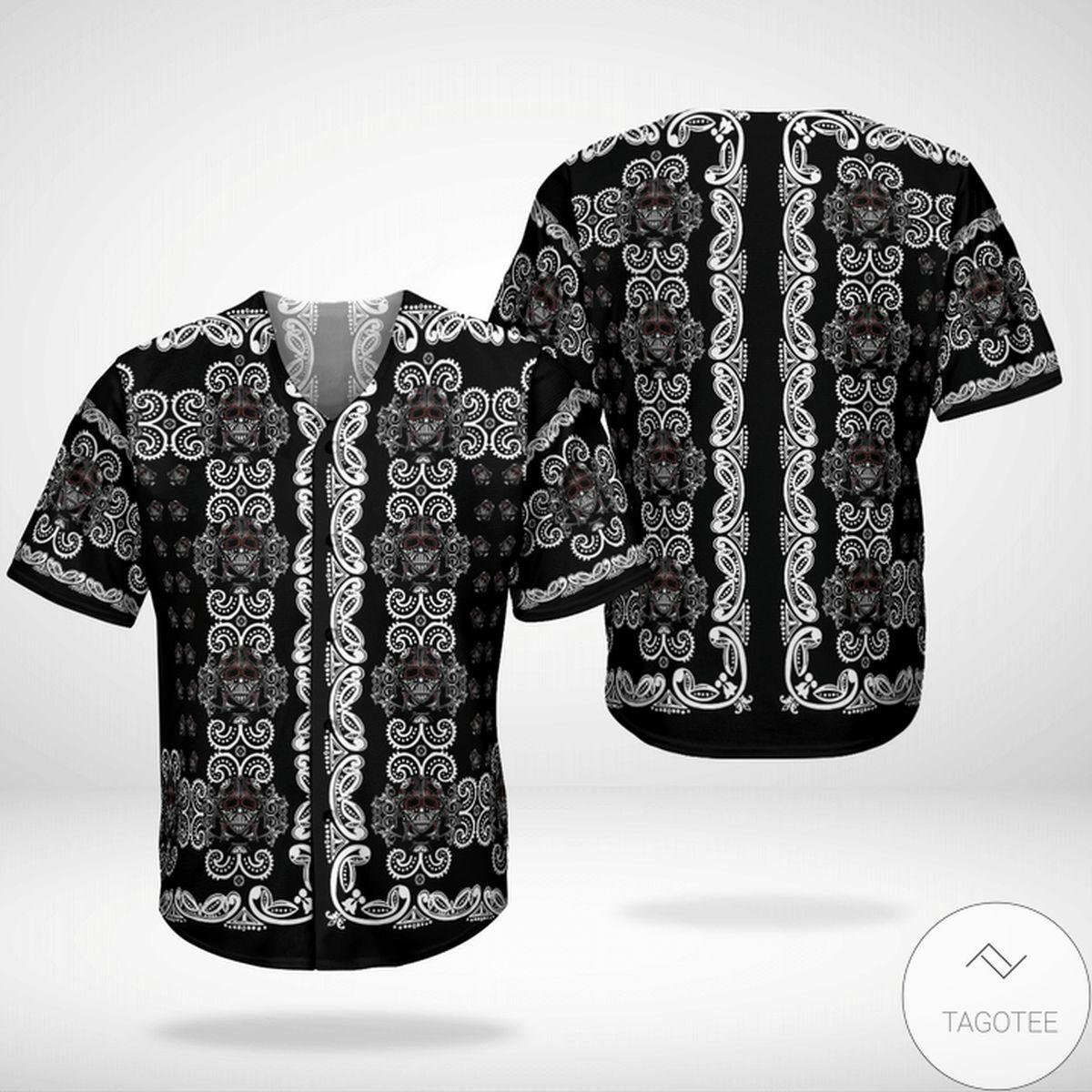 Amazing Star Wars Paisley Pattern Black Baseball Jersey