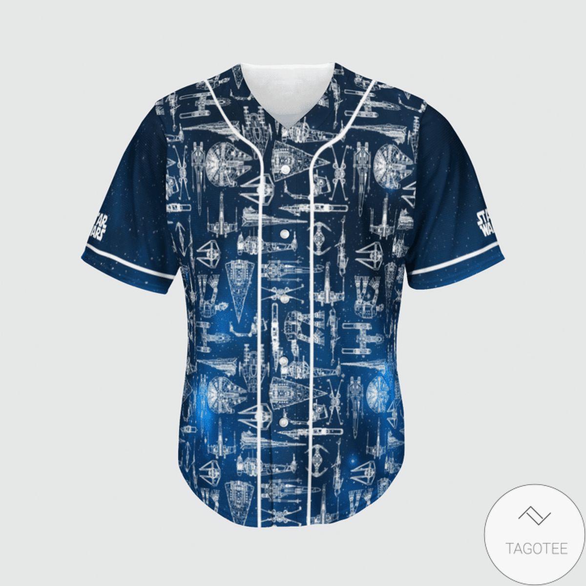 Esty Star Wars Spaceship Blueprint Baseball Jersey