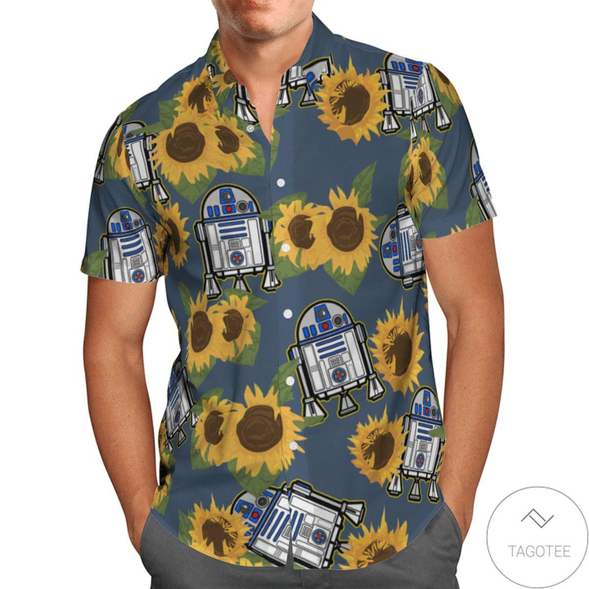 Hot Deal Star Wars Sunflowers Hawaiian Shirt