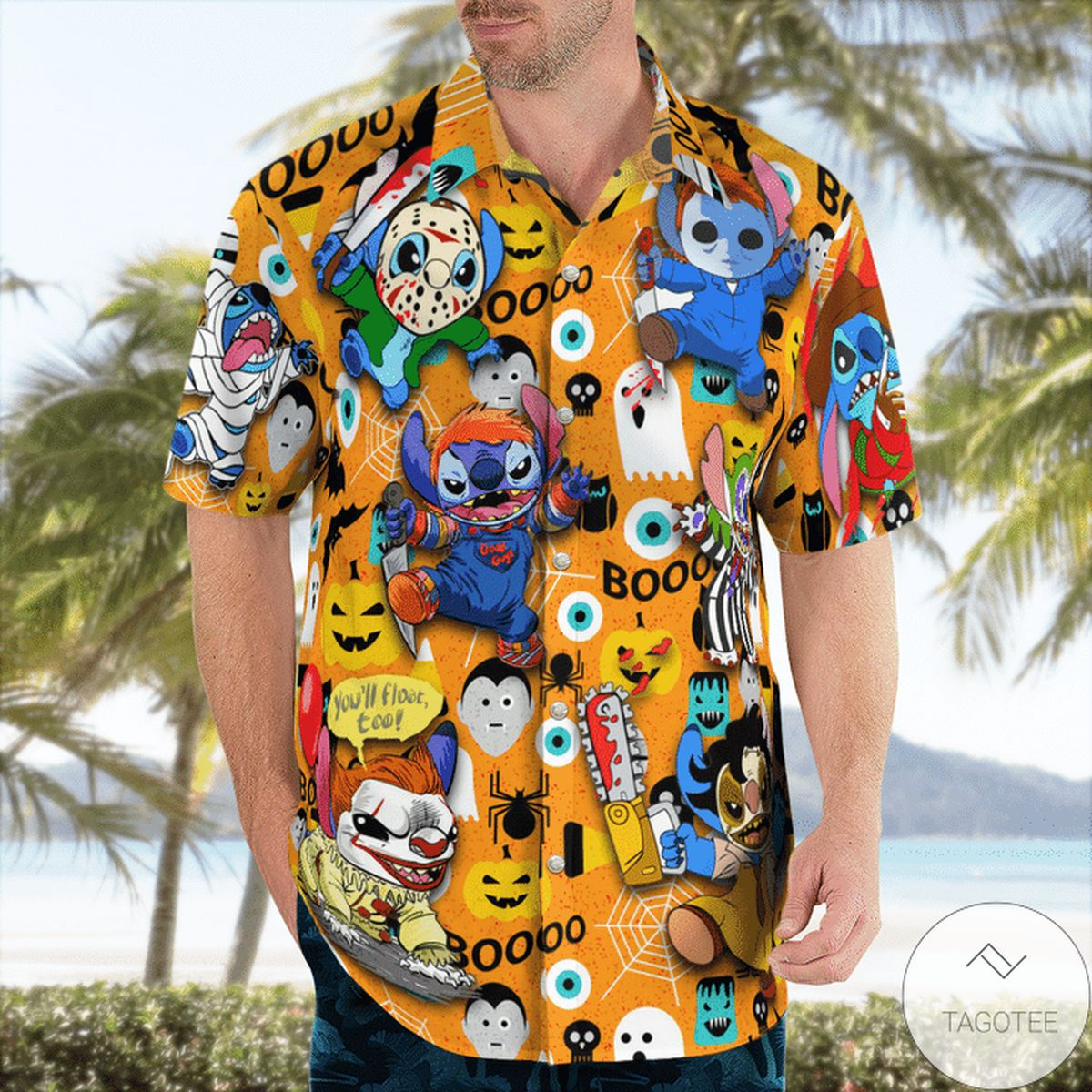 Stitch Halloween Boo Hawaiian Shirt